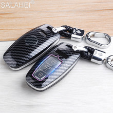 צבעוני ABS רכב מפתח מקרה כיסוי מעטפת עבור אאודי A6 A6L A7 A8 A8L Q8 E טרון C8 D5 2019 2020 רכב Stying Keychain מחזיק אבזרים