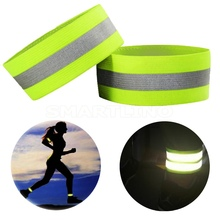Armband Belt-Strap Velcro Reflective High-Visibility Night-Running Outdoor with Cycling-Arm-Belt