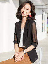 2020 New Summer Fashion Business Interview Suits Women Work Office Ladies Half Sleeve Casual Blazer And Coat