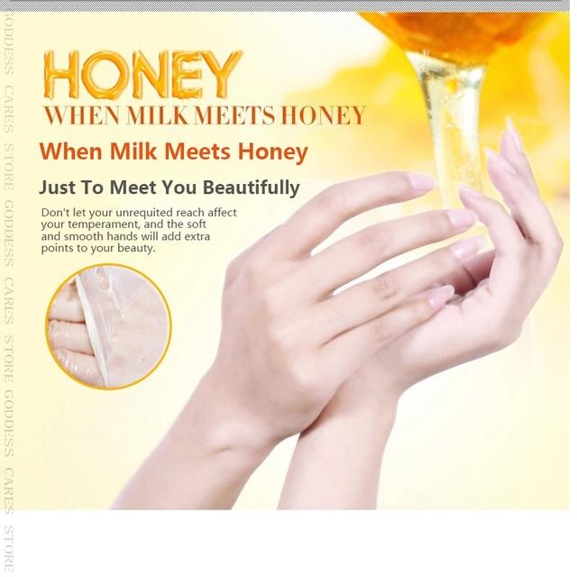 Peeling Hand Feet Mask Wax Honey Essence Paraffin Bath Sodium Hyaluronate Moisturizing Spa Exfoliating Hands Foot Care Cream P 1