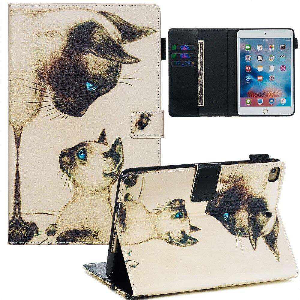 Magnetic Smart Cover For ipad mini 4 ipad mini 5 2019 Tablet Stand Case For ipad mini 1 / 2 / 3 7.9 inch Case + Film + Pen
