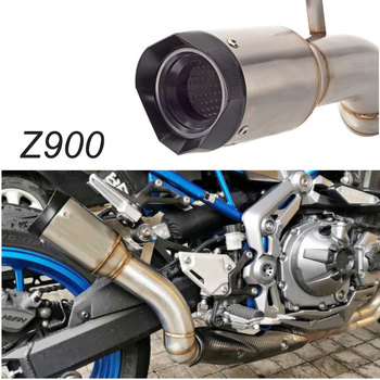 Slip on For Kawasaki Z900 2017-2020 Years Motorcycle Exhaust Muffler Pipe Modified With Middle Connection Link Pipe Z900 exhaust motorcycle exhaust modified scooter clamp on motorbike mid pipe slip on muffler exhaust mid pipe for yamaha mt 07 mt07 mt 07