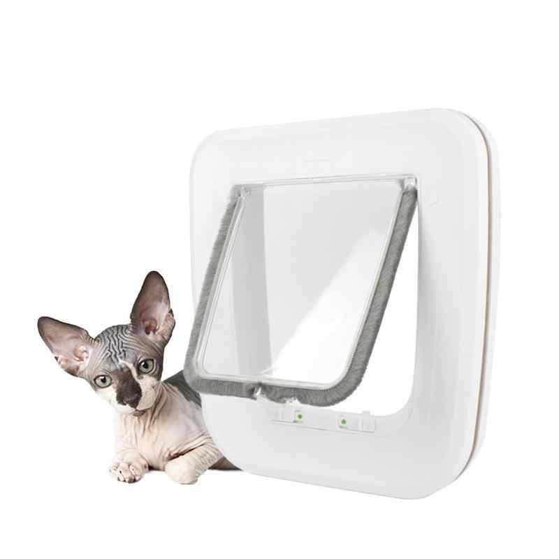 2019 פטנט באיכות גבוהה חדש כלב חתול חתלתול דלת אבטחה דש דלת פלסטיק בעלי החיים קטן חיות מחמד חתול כלב שער דלת ציוד לחיות מחמד