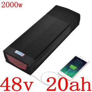 E-Bike Rear Rack Battery 48V 20Ah Lithium ion Batteries With Luggage Carrier For 1000W 750W 500W Bafang Tsdz2 Electric Bicycle