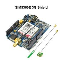 цена на Elecrow GSM/GPRS/EDGE SIM5360E 3G Shield for Arduino Uno Mega Module A-GPS Micro SIM Card 3G Network eCALL Development Board