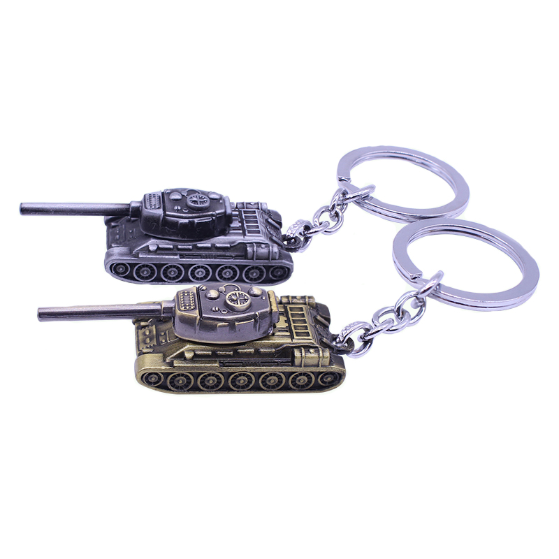 2019 New C Game Silver And Gold Around WOT Key Chain World Of Tanks Key Holder Tank War Keychain Metal  Gift Pendant