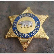 Los Estados Unidos LA SHERIFF del Condado/ayudante del SHERIFF, placa de Metal de Los Ángeles adjunto SHERIFF para colección de diámetro 8,1 cm