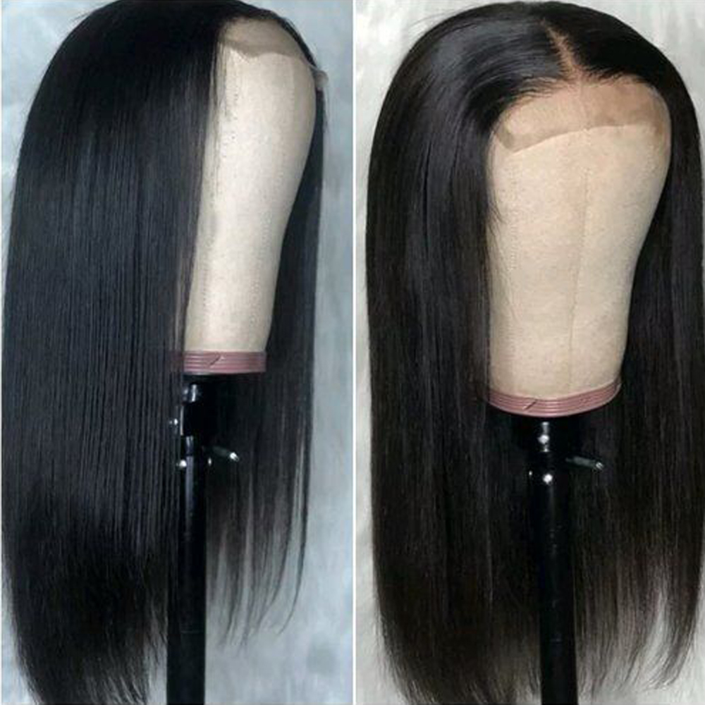 Peruvian 4×4 Lace Closure Wig Straight Human Hair Wigs For Black Women Non-remy Lace Wigs For Women With Baby Hair Fashion Quee
