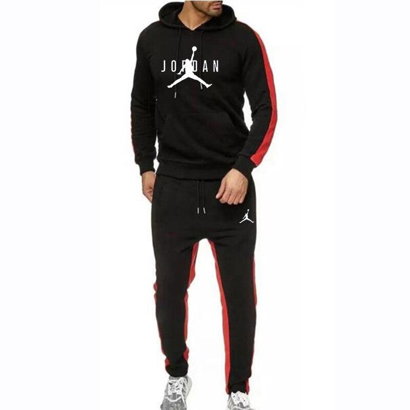 New Tracksuit Men Sets Jordan 23 Hoodie Set Hoodies+sweatpants Men Pullover Hooded Sweatshirts Winter Fleece Sportswear Set 2019