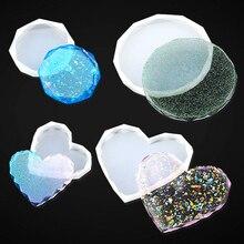 DIY Coaster Silicone Mold Epoxy Resin Mold Casting Diamond Love Heart Molds for Making Coaster Bowl Mats Home Decor Art Craft