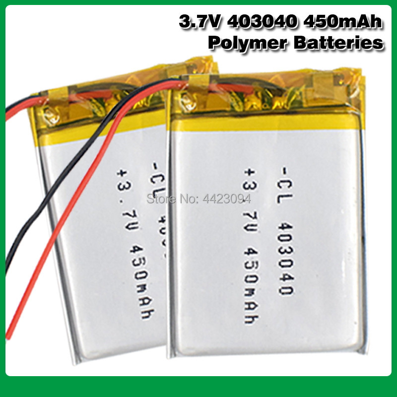 <font><b>3.7V</b></font> 450mAh <font><b>403040</b></font> Lithium Polymer Li-Po li ion Rechargeable Battery Lipo cells For Tachograph Car DVR Bluetooth speaker Camera image