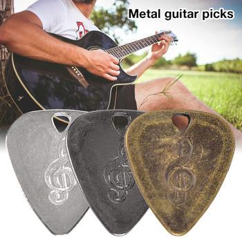 Kostki do gitary kostki ze stopu cynku gitara elektryczna ballada gitara akustyczna Ukulele metalowe kostki Perfect Tone tanie i dobre opinie Guitar Picks