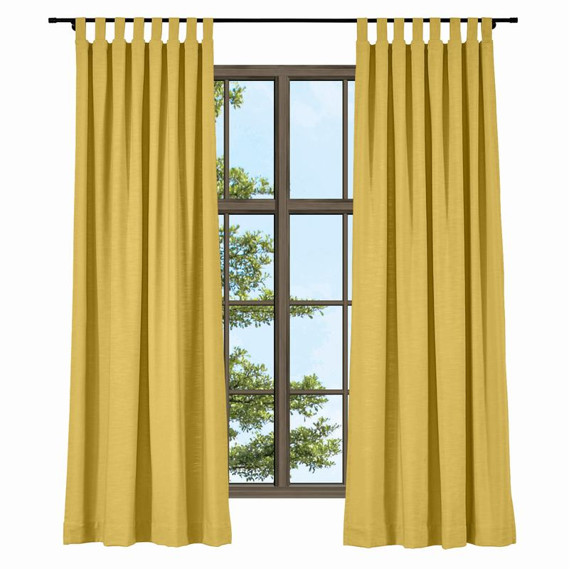 Tab Top Curtains Solid Cotton Linen ChadMade Custom Solid Color ...
