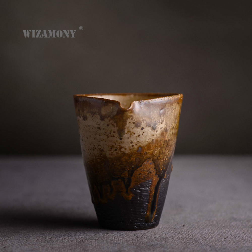 Entirely Handmade Raw Ore Stoneware Grasping Ceramic Wide Mouth Chai Kiln Variable Pitcher Handmade Pull Embryo Kung Fu Tea Set
