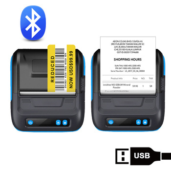 Portable Bluetooth Printer Pos 80mm Thermal Barcode Printer 3 inch Label Receipt 2 in 1 Printer for Small Business ESC/POS milestone portable thermal printer bluetooth receipt bill 58mm 2 inch mini pos wireless windows android ios mobile pocket p10