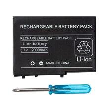 OSTENT 2000mAh 3,7 V перезаряжаемый литий-ионный аккумулятор+ набор инструментов для nintendo DSL NDS Lite