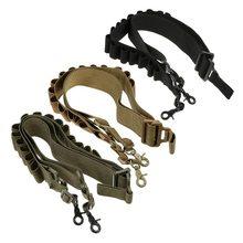 Tactical Shotgun Belt 12/20 GA 2 Point Shotgun Ammo Sling 15 Round Shell Bandolier Holder Military Rifle Cartridge Strap Belt