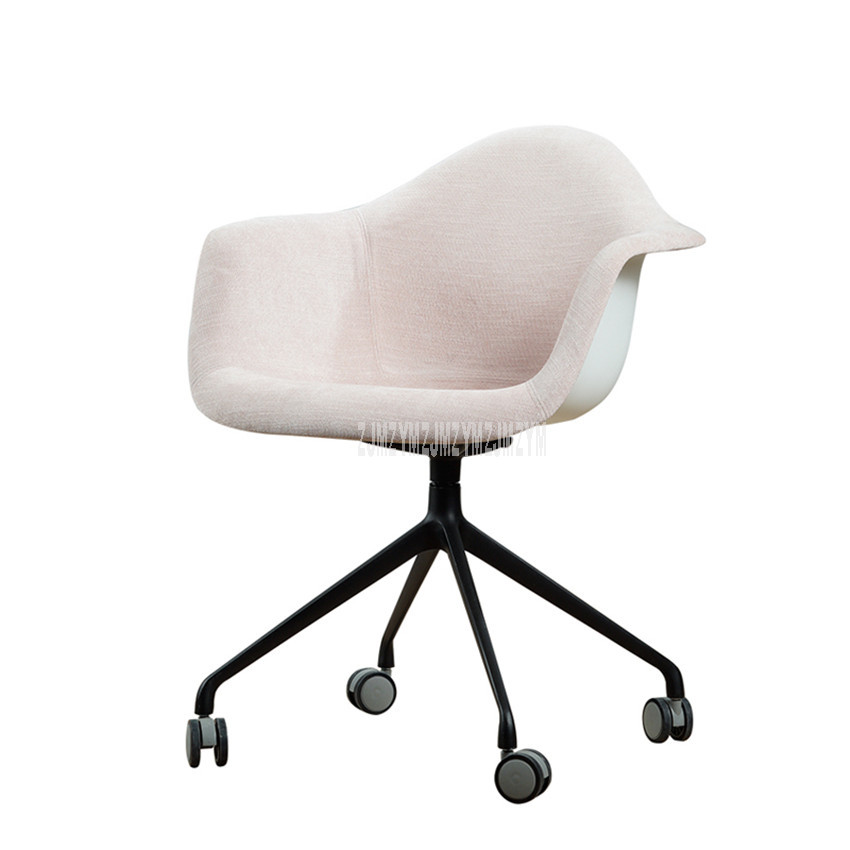Nordic Style Household Computer Chair Home Use Armchair Aluminum Alloy Modern Creative Linen Cotton Breathable Office Chair