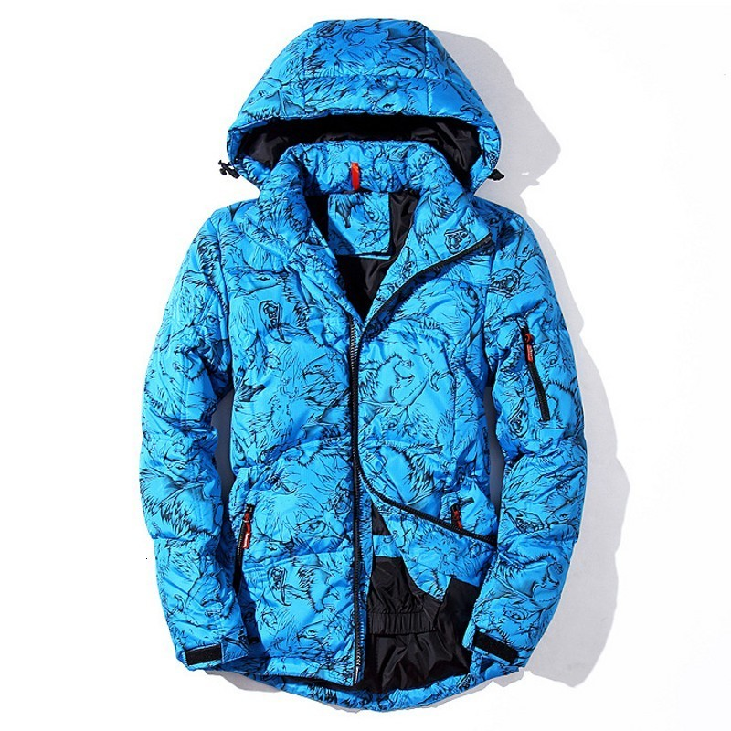 High Quality Fashion Camouflage Printed Mens Down Jacket Warm Winter Hooded Jackets Men Large Size Coat Overcoats Loose Parkas