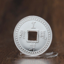 S999 Silver Square Hole Round Coin Investment Commemorative Pendant 100% Sterling  Jewelry Holiday Gift 2g