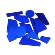 Ctpa3bi Синие стразы акрил ic Пришивные зеркальные камни 30