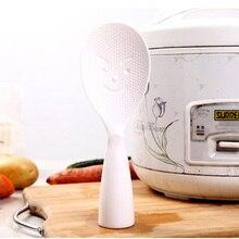 1 шт., рисовая ложка с улыбающимся лицом, экологический специальный кухонный инструмент, антипригарная рисовая ложка из АБС-пластика, кухонный инструмент, кухонные столовые ложки