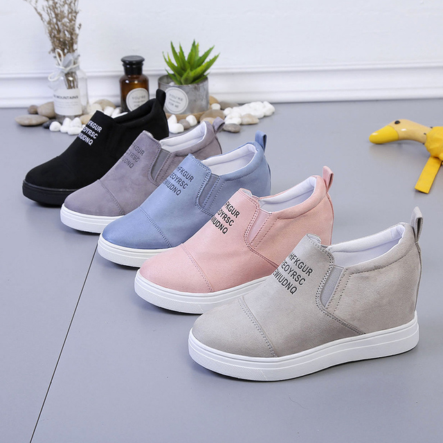 AARDIMI Womens Loafers Creepers Platform Shoes For Woman Casual Shoes Female Wedges Sneakers Women Slip On Flat Footwear Autumn