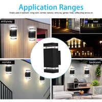 1Pcs Doppel Up und Unten Warme Weiß Wand Licht Decor Lampe Mit 2 Pcs von GU10 5W LED lampen Für Indoor Outdoor Home Schlafzimmer