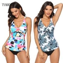 TYAKKVE New Tankini Swimsuit Skirt Sexy Plus Size Swimwear Women Vintage 2019 Bikini Two Piece swimming Suit Maillot De Bain 5XL