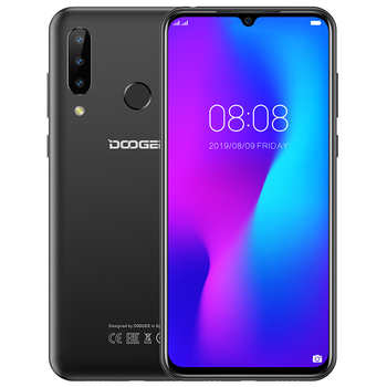 """DOOGEE N20 Android 9.0 Mobile phone 4GB+64GB 6.3"""" FHD+ Display 16MP Triple Back Camera MT6763 Octa Core 4350mAh 4G Smartphone"""
