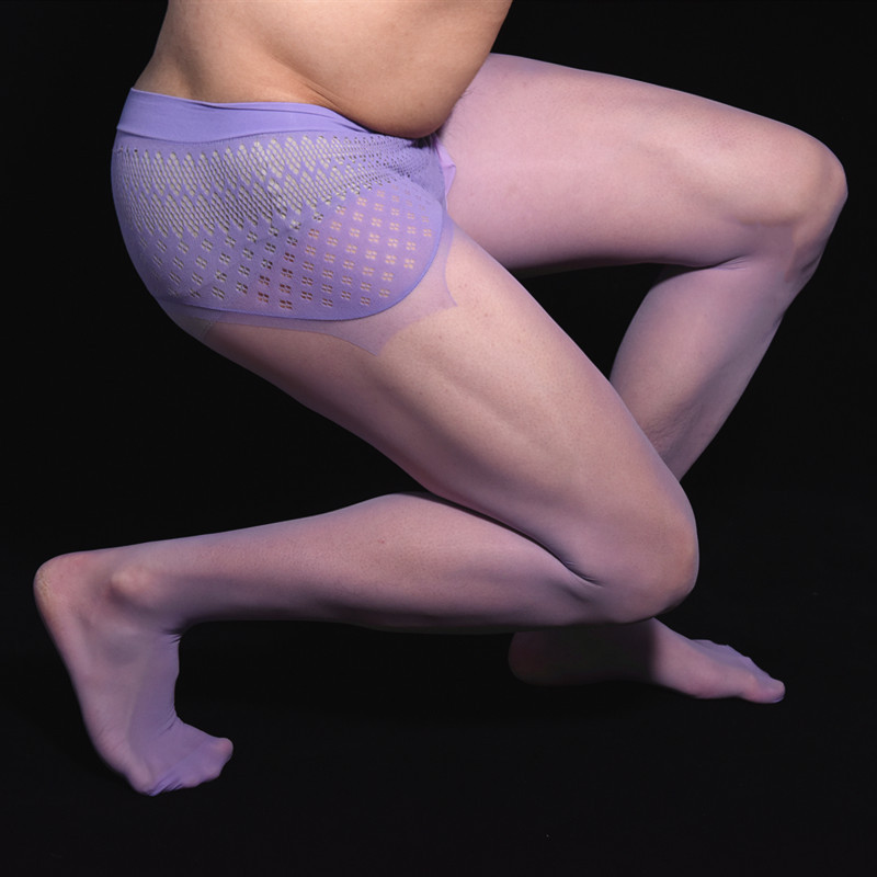 Sexy Men Lace 360 Seamless COCKing Stockings Pantyhose Gloosy Shiny Sexy Tight Stocking Dance Wear Gay Wear Plus Size F17