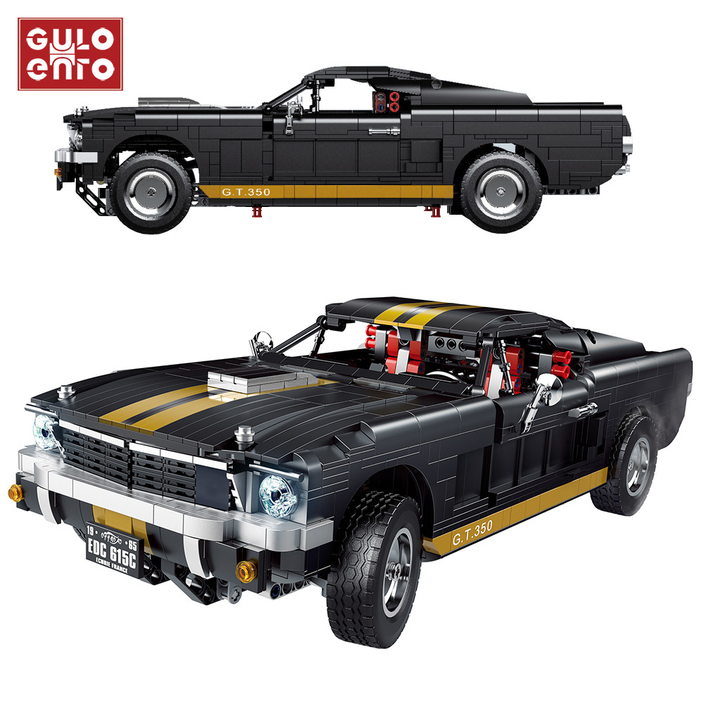high tech 1817Pcs City Mustanged Super Racing Sports Vehicle building blocks Speed Racer Muscle Car Bricks Children Toys Gifts