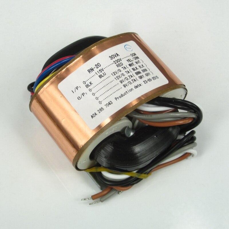 115 v 230 v r tipo transformador de potencia r vaca 30 w duplo 12 v