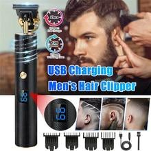 Razor Hair-Clipper Shaver Trimmer Barber-Machine 0mm Cordless Baldheaded LED USB