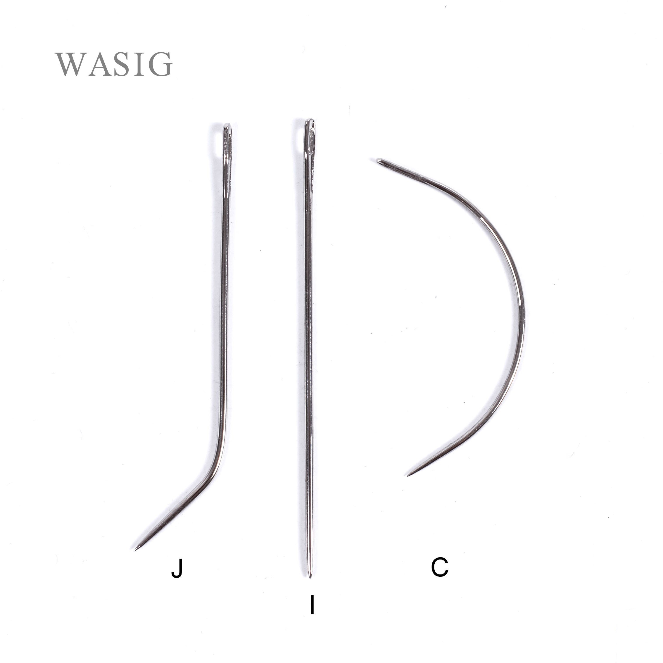 6 Cm 12pcs C J I Mix TYPE Curved Needles Hair Weaving Thread/Sewing Needles For Hair Extension Tool Ordinary Small Packet
