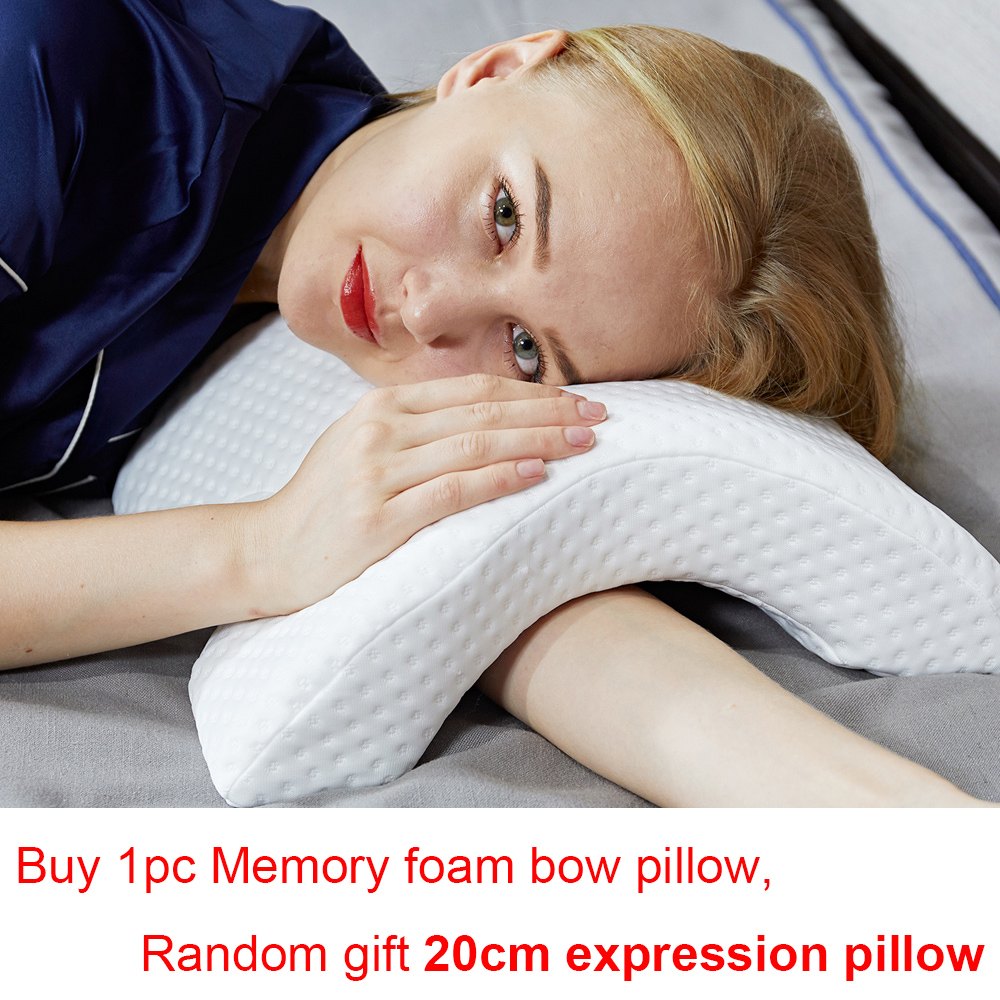 Memory Foam U-shaped Arch Pillow Slow Rebound Cervical Pillows Male Female Cervical Health Pillow Home Single Silk Pillows 5