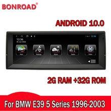 Bonroad rádio multimídia automotivo, rádio dvd stereo player, forbmw e39 x5 e53 1999-2006, navegação gps