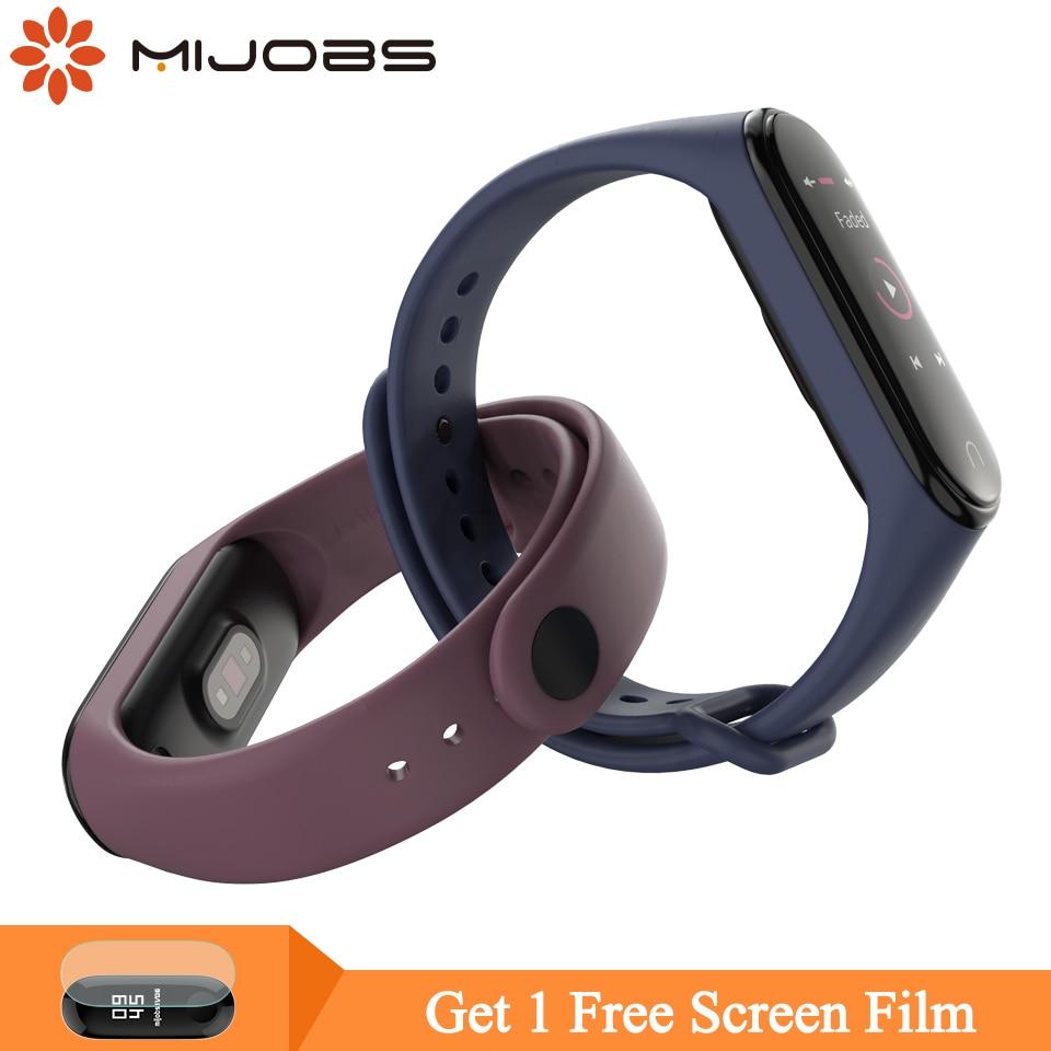 Mijobs Bracelet For Xiaomi Mi Band 4 Sport Strap Watch Silicone Wrist Strap For Xiaomi Mi Band 3 Accessories Miband 3 Wristband