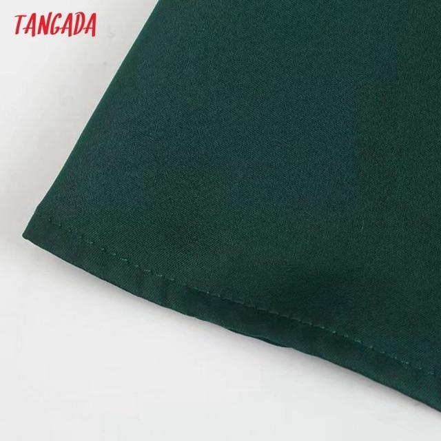 Tangada Women Green Elegant Party Dress Sleeveless Backless 2021 Fashion Lady New Year Dresses 3H845 5