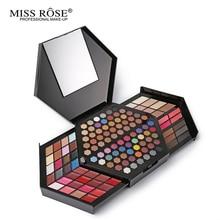 Miss Rose Professional Makeup Kit Full Color Matte Shimmer Eyeshadow Palette Highlighter Face Powder Concealer Make Up Box