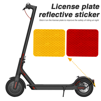 Rear Fender Mudguard Reflective Sticker Safety High Visibility Warning Tapes for Xiaomi Mi Electric Scooter Pro 2 4