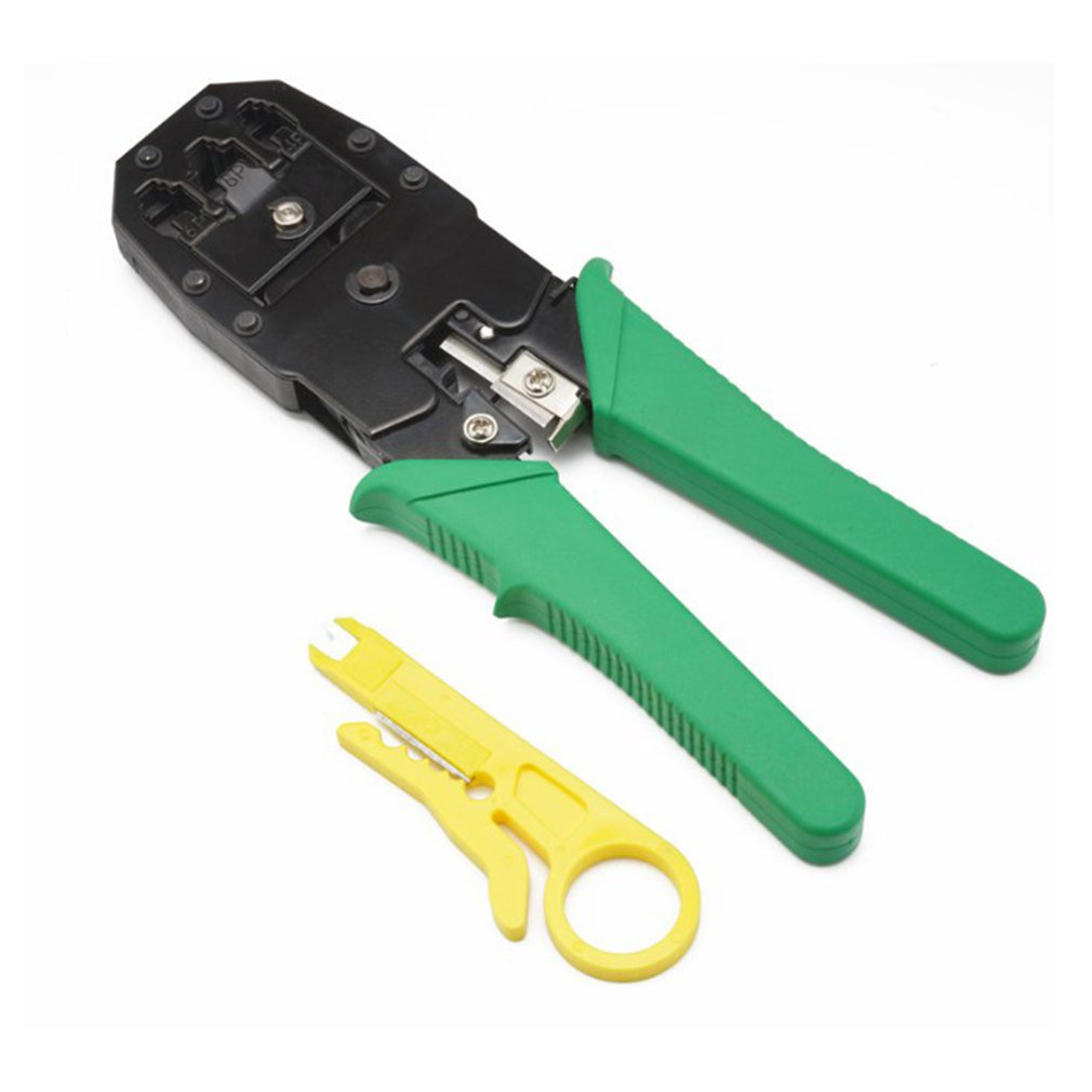 3-in-1 Networking Crimping Pliers RJ45 Cable Wire Stripper Electrician Gadget With Knife Tool Stripping Blades Cable