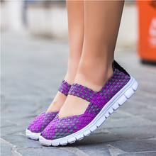Women sneakers 2020 New fashion breathable weaving casual shoes woman comfortable flats sneakers women shoes zapatos de mujer