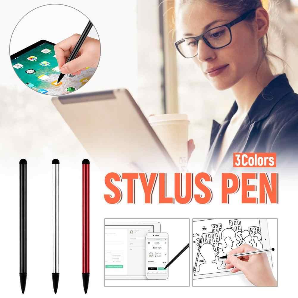 9 ชิ้น/ล็อตหน้าจอสัมผัสแบบ Capacitive ปากกา Stylus สำหรับ IPhone IPad IPod Touch สูทสำหรับโทรศัพท์สมาร์ทอื่นๆแท็บเล็ตสไตลัสโลหะดินสอ