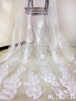 BEAUTIFICAL French fabric lace net tulle fabric mesh tissu african party embroidery laces ML1N2131