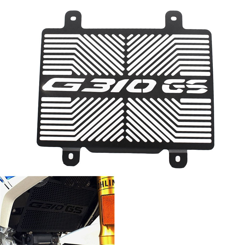 Black Motorcycle G310R Radiator Grille Guard Cover Protectorn Water Tank Net For <font><b>BMW</b></font> <font><b>G</b></font> <font><b>310R</b></font> G310 R2017 2018 2019 Stainless Steel image