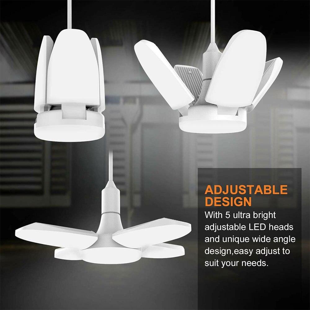 60W LED Work Lights Indoor Deformable Shop Work Lights Garage Ceiling LED Lights Adjustable LED Head For Parking Lighting Decor