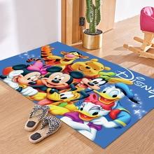 Floor Mat Carpet Disney Series Mickey Minnie Mouse Donald Duck Winnie the Pooh Tigger Chilren Kids Non-slip Mat Home Decoration
