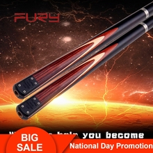Fury Billiard Snooker Cue SN-86 9.8mm Tip 145cm Length 3/4 Split Professional with Extension Stick Case China
