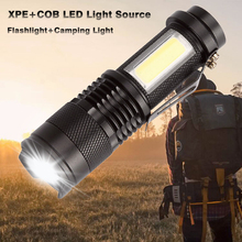 Mini 14500 Led Flashlight Cob AA Tactical Flashlight Zoom Flashlight Rechargeable Xpe Q5 Camping Led Torch For Hiking Walking nitecore ea42 1800lm cree xhp35 hd led 4 aa flashlight camping outdoor hiking cave rescue portable tactical torch free shipping